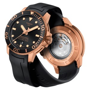 Tissot T120.407.37.051.01 Men's Seastar 1000 Powermatic 80 Automatic Diver 300 Meters Rubber Strap Watch