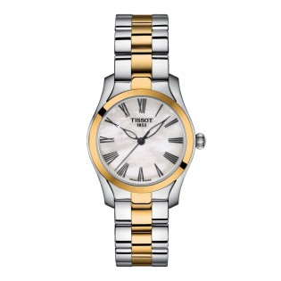 Tissot T112.210.22.113.00 Women's T-Wave Quartz Two-Toned Steel Dress Watch