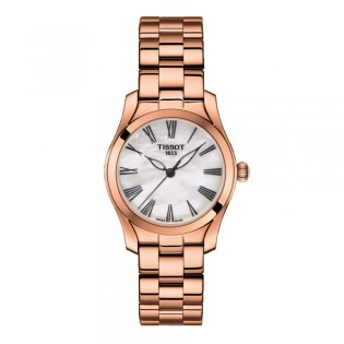 Tissot T112.210.33.113.00 Women's T-Wave Quartz Rose Gold Plated Steel Dress Watch