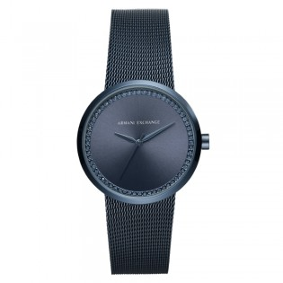 Armani Exchange AX4504 Women's Street Quartz Mesh Bracelet Blue IP Watch