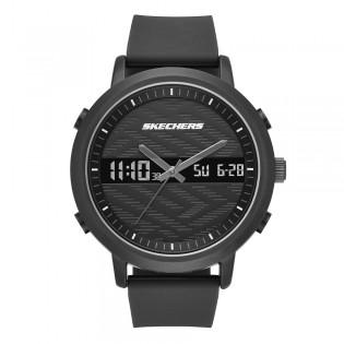 [100% ORIGINAL] Skechers SR5071 Men's Lawndale Quartz Digital Analog Silicone Strap Watch
