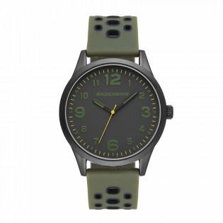 [100% ORIGINAL] Skechers SR5125 Men's Perfection Quartz Army Green Silicone Strap Watch