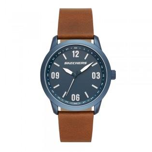 [100% ORIGINAL] Skechers SR5126 Men's Bracer Quartz Leather Strap Watch