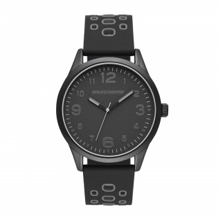 [100% ORIGINAL] Skechers SR5127 Men's Perfection Quartz Black Silicone Strap Watch