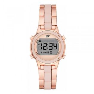 [100% ORIGINAL] Skechers SR6184 Women's Hollygle Digital Rose Gold Metal Bracelet Watch