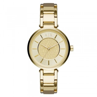 Armani Exchange AX5316 Women's Street Gold Plated Steel Quartz Watch