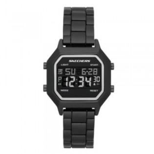 [100% ORIGINAL] Skechers SR6193 Unisex / Woman's Retro Design Digital Black Metal Bracelet Watch
