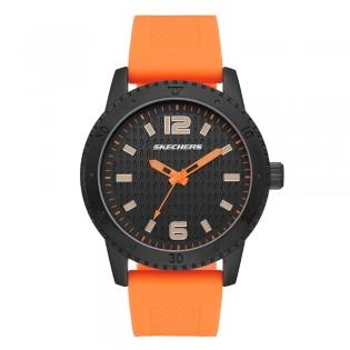 [100% ORIGINAL] Skechers SR5130 Men's Ardmore Quartz Analog Neon Orange Silicone Band Watch