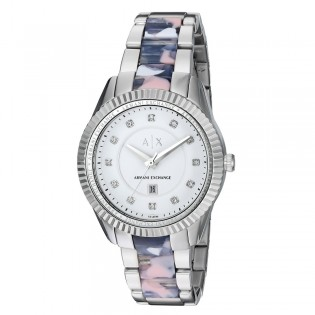 Armani Exchange AX5438 Women's Dylann 2 toned Steel Quartz Watch