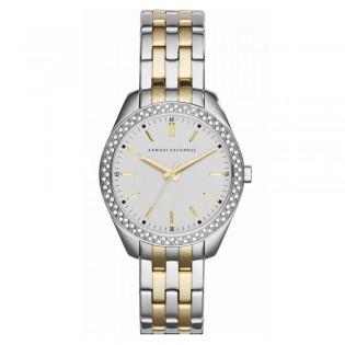 Armani Exchange AX5519 Women's Street 2 Toned Quartz Steel Watch