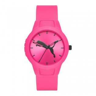 Puma 100% Original P1015 Women's Reset V2 36mm Three Hand Quartz Pink Polyurethane Strap Sport & Fashion Unisex Watch