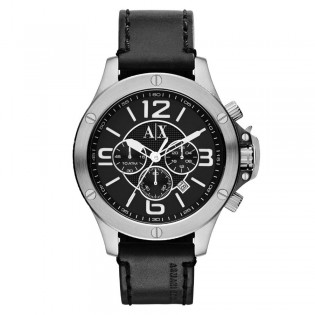 Armani Exchange AX1506 Men's Wellworn Chronograph Leather Strap Watch