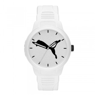 Puma 100% Original P5012 Men's Reset V2 Three Hand Quartz White Polyurethane Strap Sport & Fashion Watch