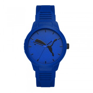 Puma 100% Original P5014 Men's Reset V2 Three Hand Quartz Blue Polyurethane Strap Sport & Fashion Watch
