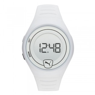 Puma 100% Original P5027 Men's / Unisex Faster LCD White Polyurethane Digital Sporty and Fashion Watch