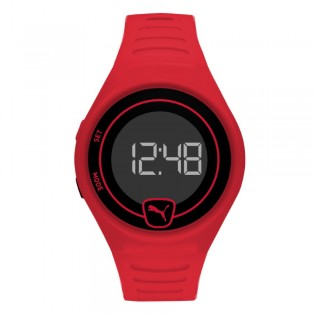 Puma 100% Original P5029 Men's / Unisex Faster LCD Red Polyurethane Digital Sporty and Fashion Watch