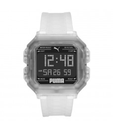 Puma 100% Original P5036 Men's Remix LCD Digital White Polyurethane Sport and Fashion Watch