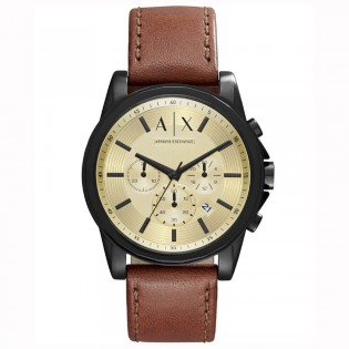 Armani Exchange AX2511 Men's Outerbanks Chronograph Leather Strap Watch