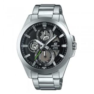 [Official Casio Warranty] Casio Edifice ESK-300D-1A Men's Quartz Analog Transparent Dial Stainless Steel Dress Fashion Sporty Watch