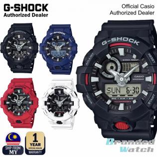[OFFICIAL CASIO WARRANTY] Casio G-Shock GA-700 GA700 Men's Digital Analog LED Light Resin Strap Watch (watch for man / jam tangan lelaki / casio watch for men / casio watch / men watch / watch for men / jam digital) GA-700-1A GA-700-2A GA-700-4A GA-700-7A