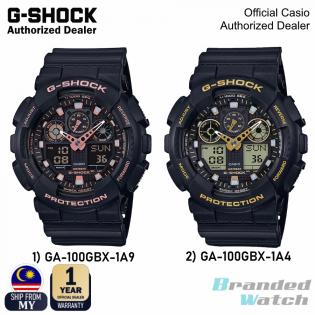 [OFFICIAL CASIO WARRANTY] Casio G-Shock GA-100GBX GA100GBX Men's Digital Analog Rose Gold Black Resin Watch (watch for man / jam tangan lelaki / casio watch for men / casio watch / men watch / watch for men / jam digital) GA-100GBX-1A4 GA-100GBX-1A9