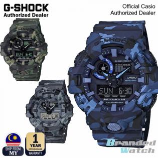 [OFFICIAL CASIO WARRANTY] Casio G-Shock GA-700CM GA700CM Men's Digital Analog Camouflage Camo Watch (watch for man / jam tangan lelaki / casio watch for men / casio watch / men watch / watch for men / jam digital) GA-700CM-2A GA-700-3A GA-700-8A