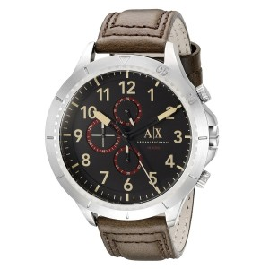 Armani Exchange AX1755 Men's Romulous Chronograph Leather Strap Watch