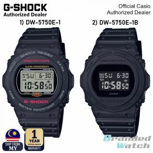 [OFFICIAL CASIO WARRANTY] Casio G-Shock DW-5750E-1 DW5750E Digital Full Blackout Resin Watch (watch for man / jam tangan lelaki / casio watch for men / casio watch / men watch / watch for men / jam digital / g shock original) DW-5950E-1D DW-5750E-1B