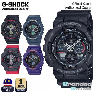 [OFFICIAL CASIO WARRANTY] Casio G-Shock GA-140 GA140 Digital Analog Resin Fashion Sport Watch (watch for man / jam tangan lelaki / casio watch for men / casio watch / men watch) GA 140 GA140-1A1 GA140-1A4 GA140-2A GA140-6A GA140-4A