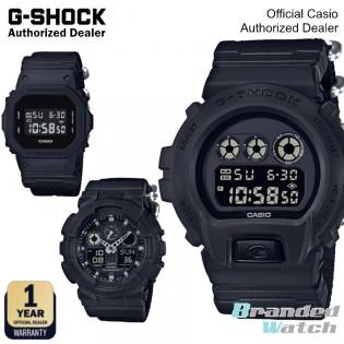 [OFFICIAL CASIO WARRANTY] Casio G-Shock Nylon Fabric Black out  DW-5600BBN-1 DW-6900BBN-1 GA-100BBN-1 Digital Watch (watch for man / jam tangan lelaki / casio watch for men / casio watch / g shock original / jam ori) DW5600BBN 1 DW6900BBN 1 GA100BBN 1