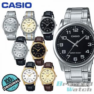 CASIO 100% ORIGINAL MTP-V001L MTP-V001D MAN ANALOG QUARTZ LEATHER CASUAL DRESS WATCH JAM CASIO ORI / JAM LELAKI CASIO / ORIGINAL JAM CASIO / WATCH FOR MAN / JAM TANGAN LELAKI