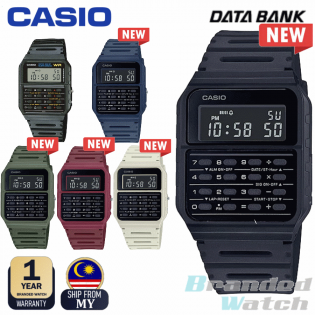 CASIO CA-53WF-1B CA-53WF 100% ORIGINAL MAN VINTAGE CALCULATOR DATA BANK WATCH JAM ORI CASIO JAM CASIO LELAKI CASIO ORI WATCH FOR MAN CALCULATOR WATCH VINTAGE WATCH