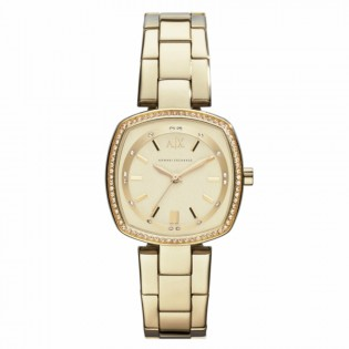 Armani Exchange AX4284 Women's Dress Square Gold Plated Watch