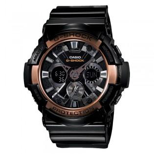 Casio G-Shock GA-200RG-1A Men's Digital Analog Black Rose Gold Resin Watch (watch for man / jam tangan lelaki / casio watch for men / casio watch / men watch / watch for men / jam digital) GA-200RG-1 GA200RG-1