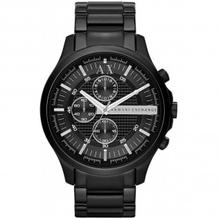 Armani Exchange AX2138 Men's Hampton Chronograph Black Ion Steel Watch