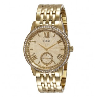 [100% Original] Guess W0573L2 Women's Multifunction Quartz Gold Stainless Steel Strap Watch