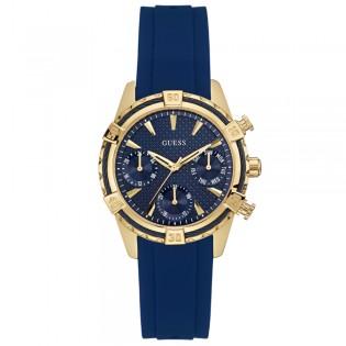 [100% Original] Guess W0562L2 Women's Chronograph Quartz Navy blue Silicone Strap Watch