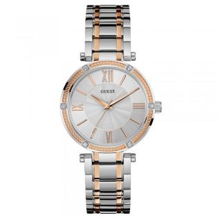 [100% Original] Guess W0636L1 Women's Analog Quartz Silver Stainless Steel Strap Watch