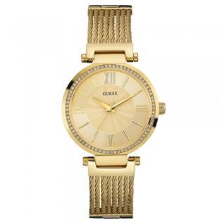 [100% Original] Guess W0638L2 Women's Analog Quartz Yellow Glod Stainless Steel Strap Watch