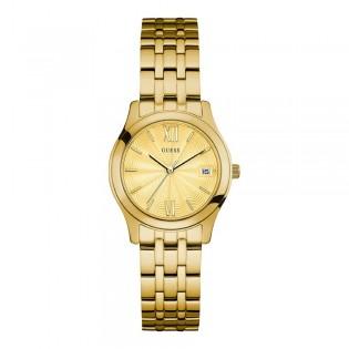 [100% Original] Guess W0769L2 Women's Analog Quartz Glod Stainless Steel Strap Watch