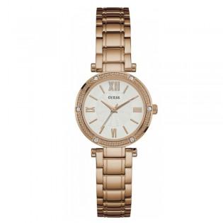 [100% Original] Guess W0767L3 Women's Analog Quartz Rose Gold Stainless Steel Strap Watch