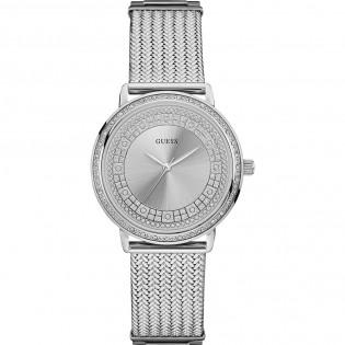 [100% Original] Guess W0836L2 Women's Anolog Quartz Silver Stainless Steel Strap Watch