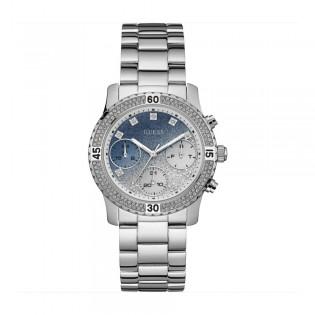 [100% Original] Guess W0774L6 Women's Multifunction Quartz Silver Strap Watch