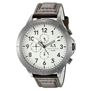 Armani Exchange AX1757 Men's Aeroracer Chronograph Leather Strap Watch