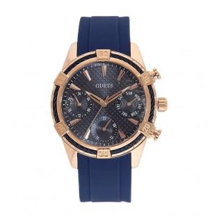 [100% Original] Guess W0562L3 Women's Multifunction Quartz Blue Silicone Strap Watch