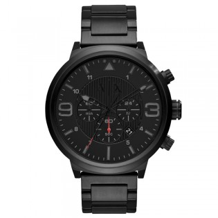 Armani Exchange AX1375 Men's Street Chronograph Black Ion Steel Watch
