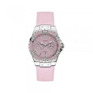 [100% Original] Guess W0775L15 Women's Multifunction Quartz Crystal Pink Leather Strap Watch
