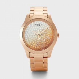 [100% Original] Guess GW0020L3 Women's Analog Quartz Rose Gold Tone Stainless Steel Strap Watch