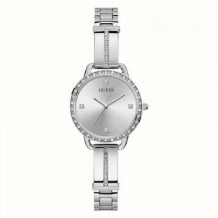 [100% Original] Guess GW0022L1 Women's Analog Quartz Silver Stainless Steel Strap Watch