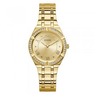 [100% Original] Guess GW0033L2 Women's Analog Quartz Gold Tone Stainless Steel Strap Watch